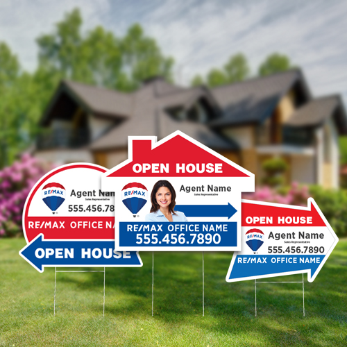 Directional Signs (Shaped)<br><br> - RE/MAX