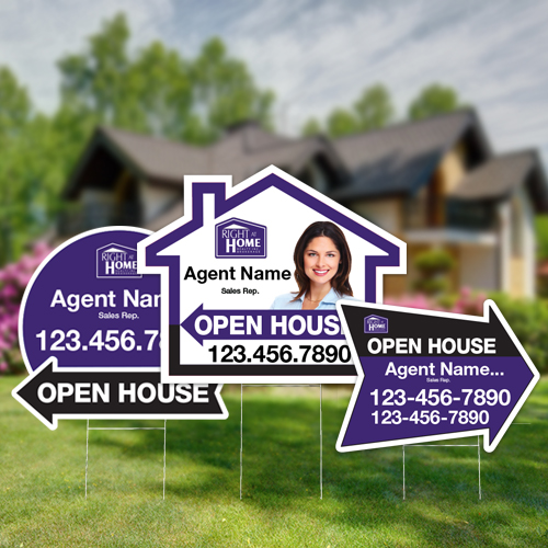 Directional Signs (Shaped)<br><br> - Right At Home