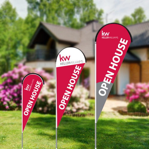 Teardrop Flags<br><br> - Keller Williams