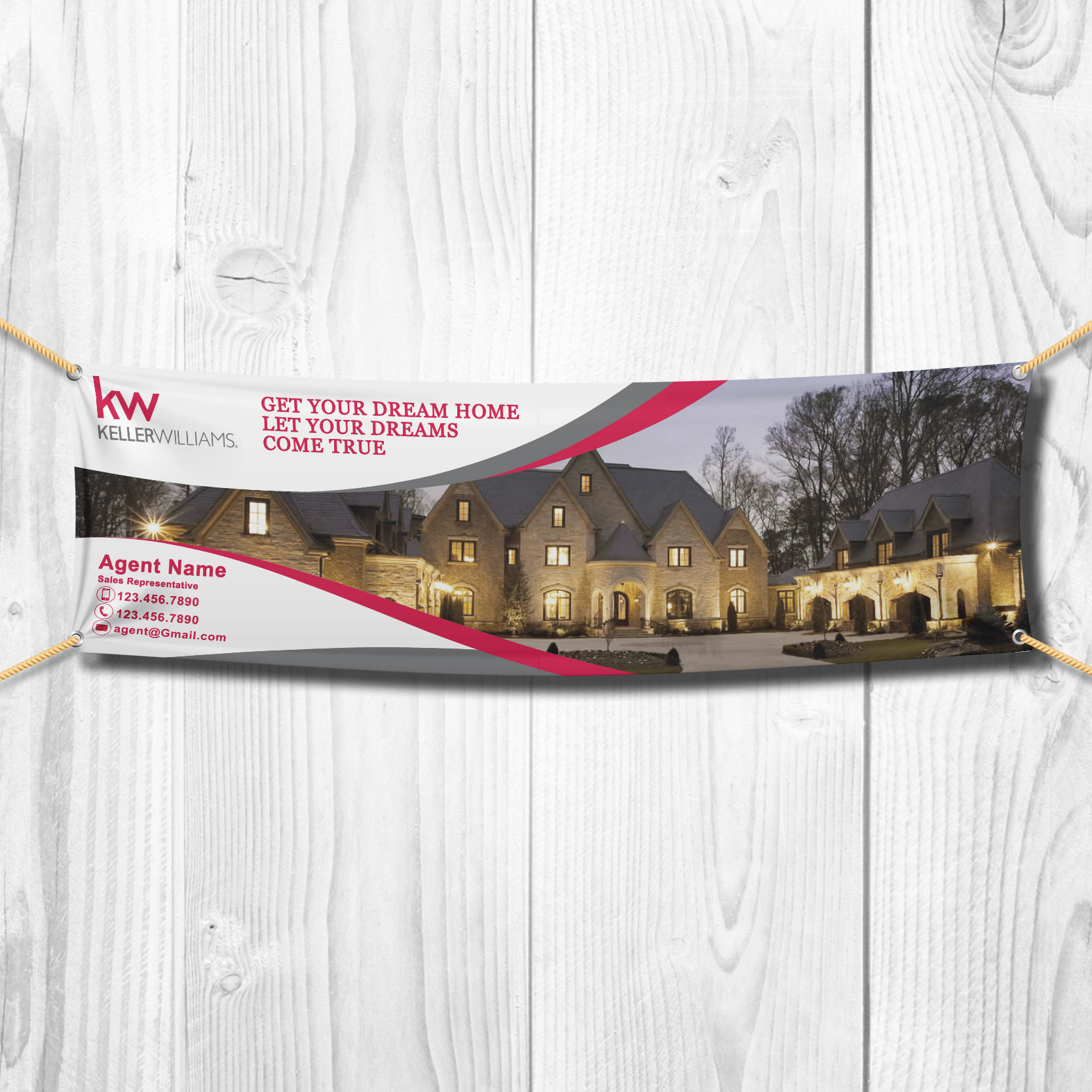Vinyl Banners<br><br> - Keller Williams