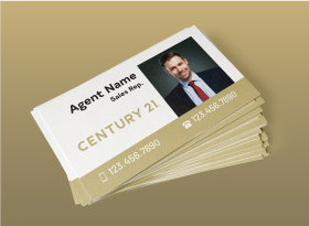 Century 21</br> Soft Touch (Suede) </br> Business Cards