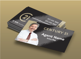 Century 21</br> UV (High Gloss) </br>Business Cards