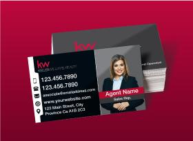 Keller Williams</br> Semi Gloss </br>Business Cards
