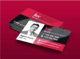 Keller Williams</br> UV (High Gloss) </br>Business Cards