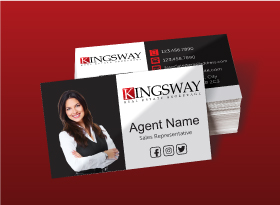 Kingsway</br>Semi Gloss</br>Business Cards