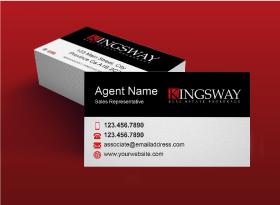 Kingsway</br>Matte </br>Business Cards