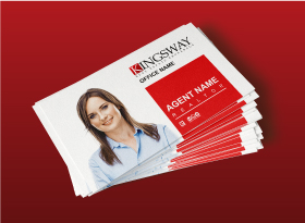 Kingsway</br>Soft Touch (Suede) </br> Business Cards