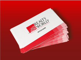 Realty World</br>Soft Touch (Suede) </br> Business Cards