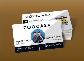 Zoocasa</br>Semi Gloss</br>Business Cards