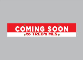 COMING SOON </br>to TREB's MLS