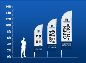 Custom Feather Flags - Coldwell Banker