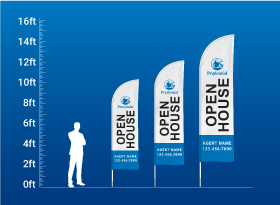 Custom Feather Flags - Prudential
