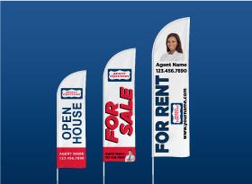 Custom Feather Flags - Realty Executives