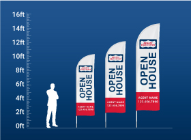 Custom Feather Flags - Realty Executives