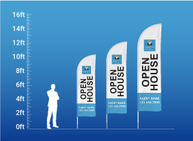 Custom Feather Flags - Relaxed Living Realty Inc.