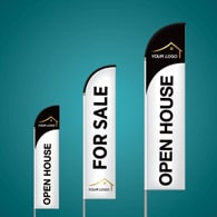 Custom Feather Flags - Exit Realty