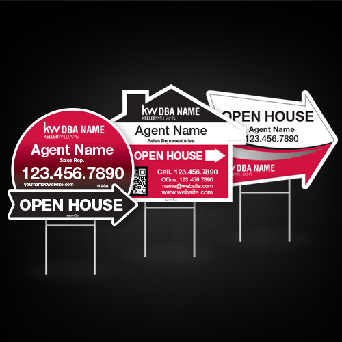 Directional Signs (Shaped)<br><br> - Keller Williams