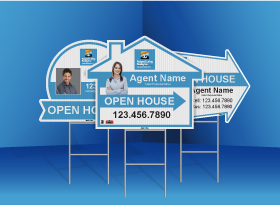 Directional Signs (Shaped) - Relaxed Living Realty Inc.
