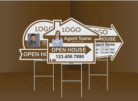 Directional Signs (Shaped) - Independent Realtor