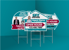 Directional Signs (Shaped) - Exit Realty