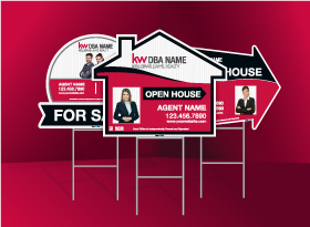 Directional Signs (Shaped) - Keller Williams