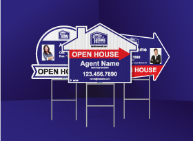Directional Signs (Shaped) - Right at Home