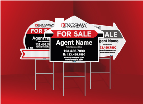 Directional Signs (Shaped) - Kingsway