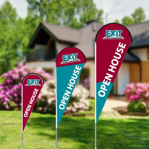 Teardrop Flags<br><br> - Exit Realty