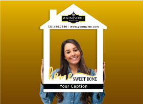 Main Street Realty</br>House Photo Booth Frames