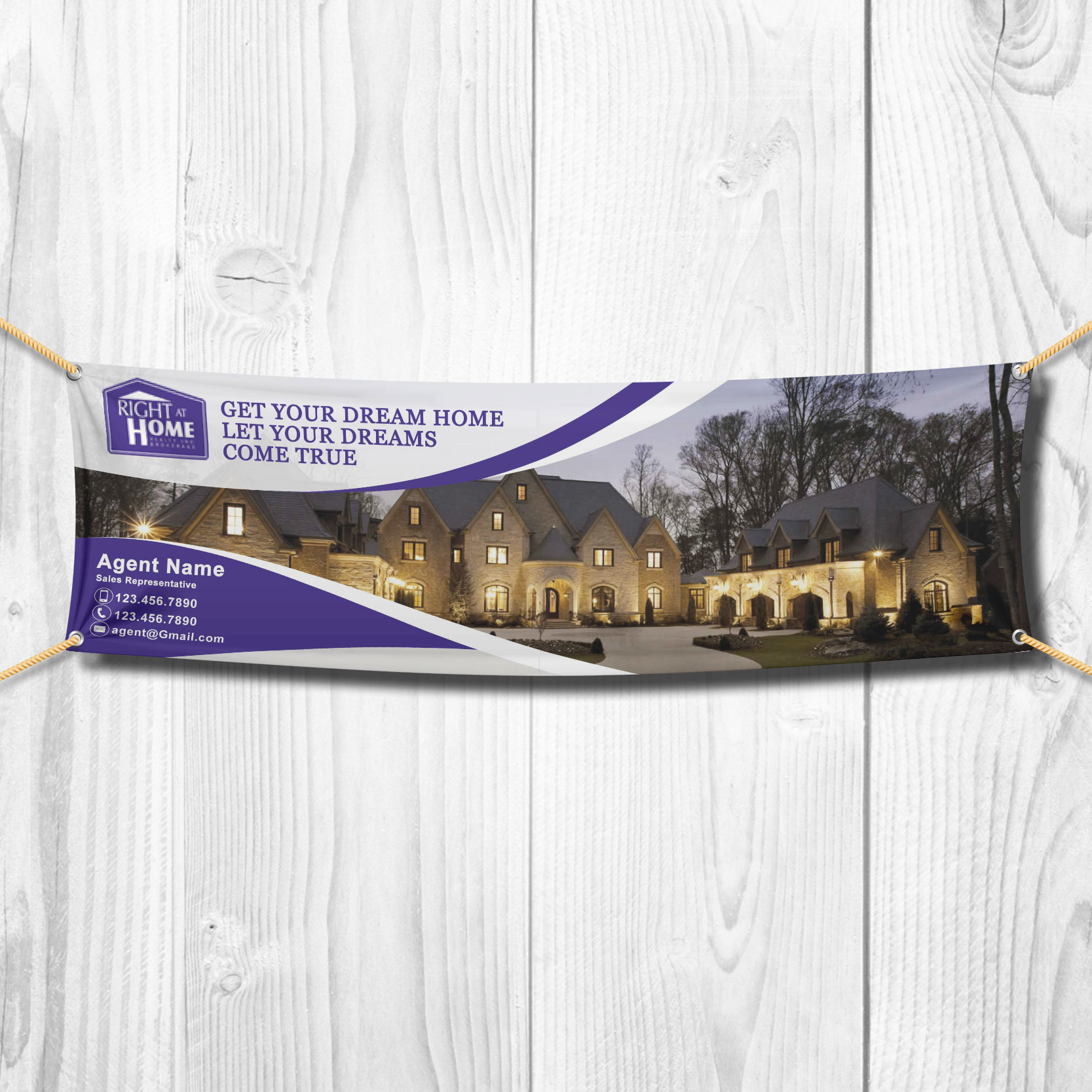 Vinyl Banners<br><br> - Right At Home