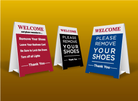 Table Top Signs - Main Street Realty