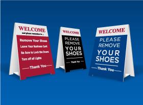 Pre-Made <br> Remove Shoes Signs