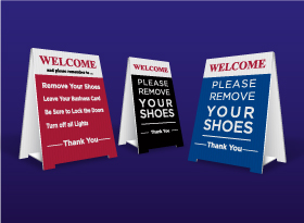 Table Top Signs - Right At Home