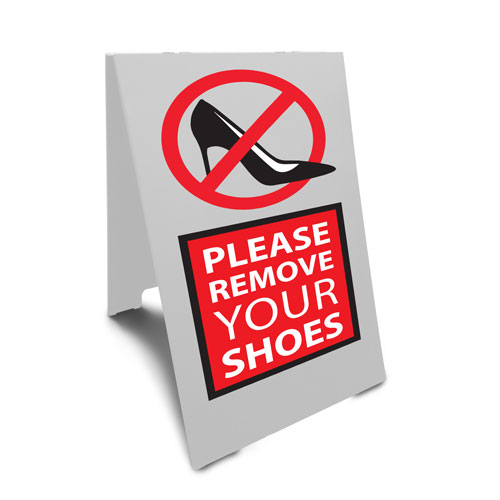 Remove Shoe Sign