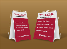 Table Top Signs - Zoocasa