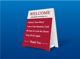 Table Top Signs - Prudential