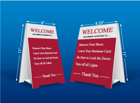 Table Top Signs - CIR Realty