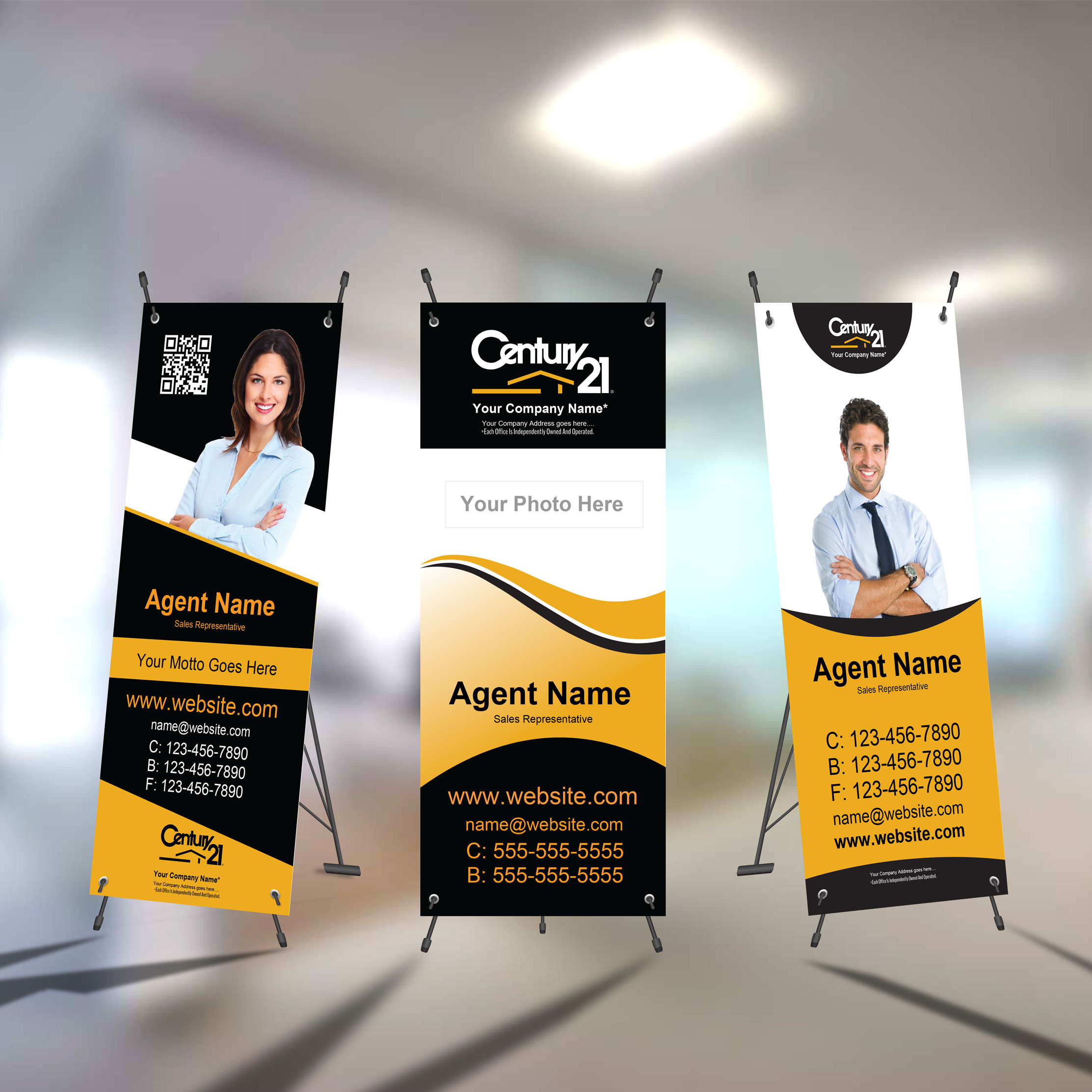 X-Frame Banners<br><br> - Century 21