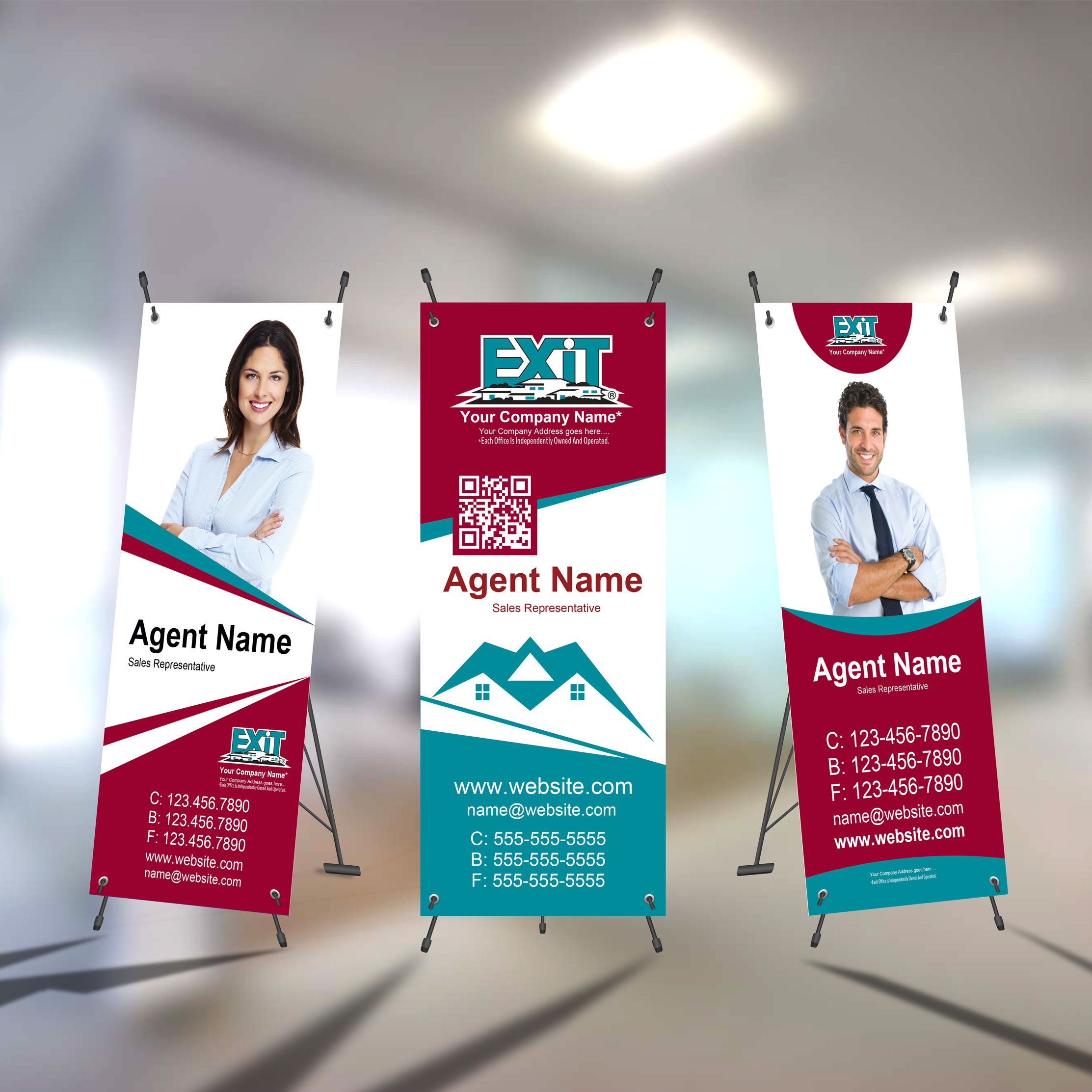 X-Frame Banners<br><br> - Exit Realty