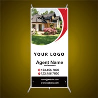 X-Frame Banners - Main Street Realty