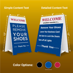 Pre-Made Remove Shoes Signs-Blue