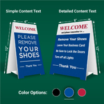 Pre-Made Remove Shoes Signs-Simple-Blue