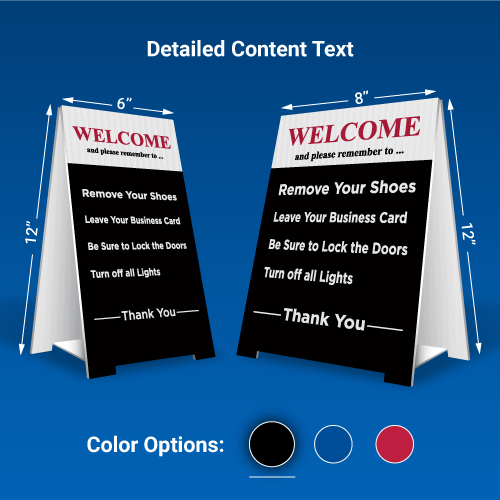 Pre-Made Remove Shoes Signs-Detailed